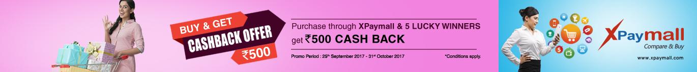 Buy & Get Cashback Offer Rs.500