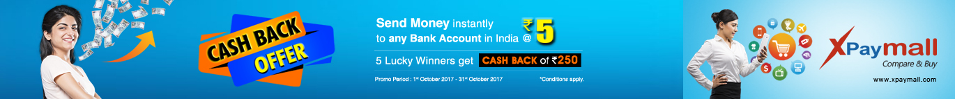 Send Money instantly to any bank @ Rs.5